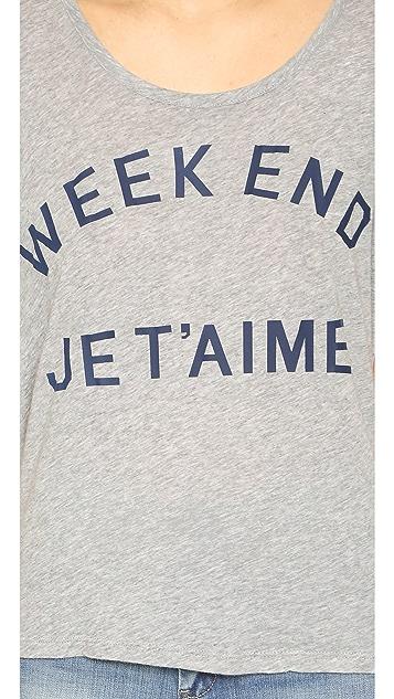 SUNDRY Weekend Je T'aime Square Tee