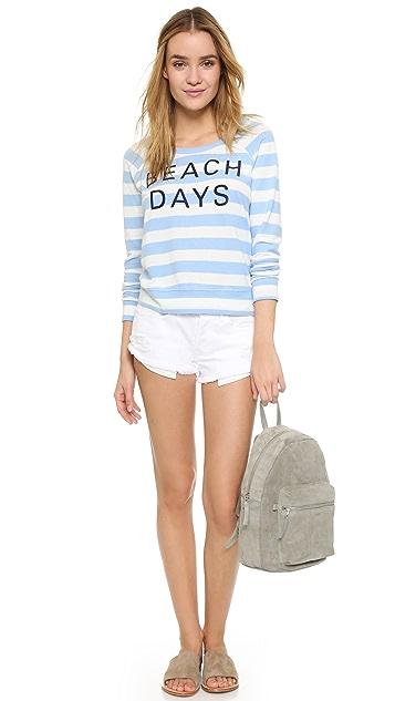 SUNDRY Sweater Knit Beach Days Pullover