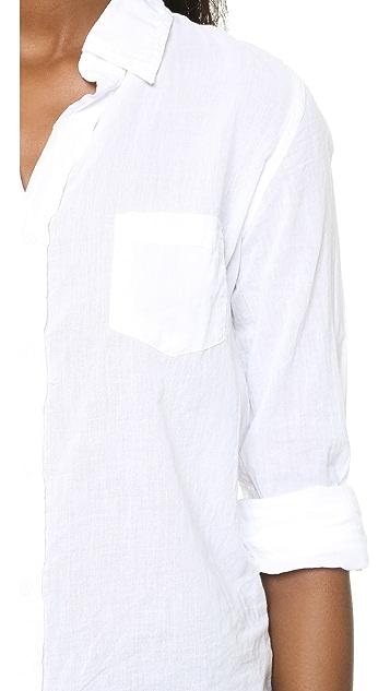 SUNDRY Cotton Voile Oversized Blouse