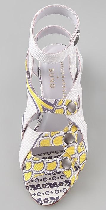 SUNO Loeffler Randall + SUNO Audra Flat Sandals