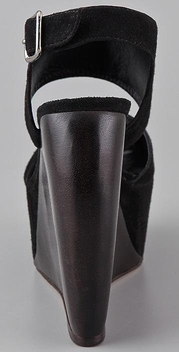 SUNO Estrella Suede Platform Sandals