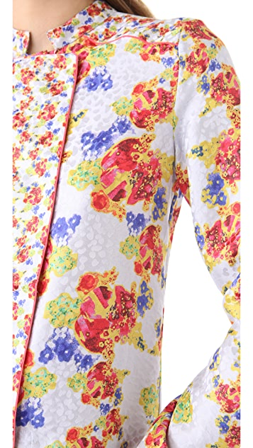 SUNO Printed Placket Top