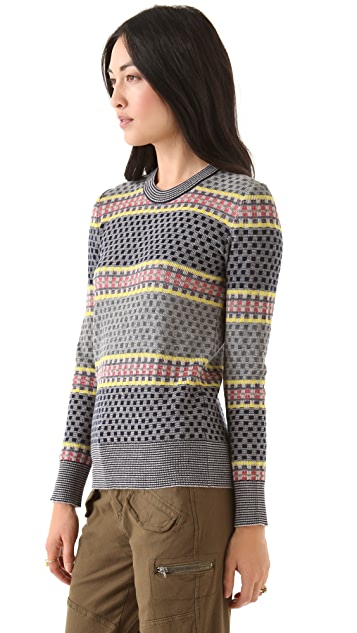 SUNO Stacked Blocks Sweater
