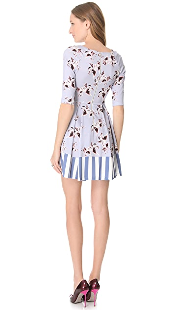 SUNO Raglan Flare Dress