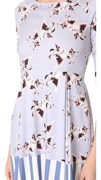 SUNO Raglan Flare Dress