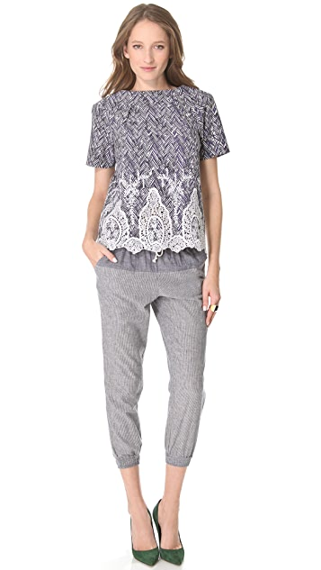 SUNO Drawstring Yoke Pants