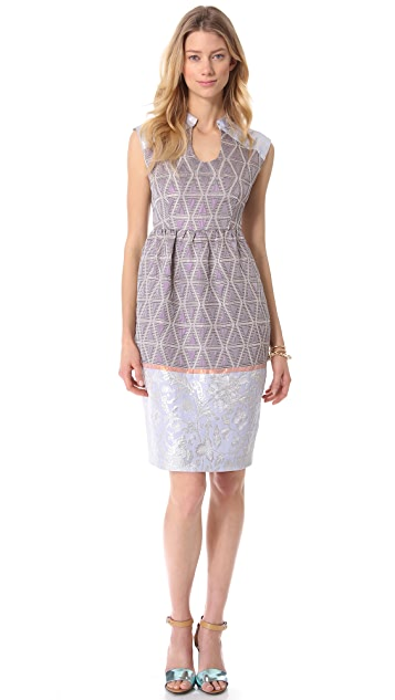 SUNO Round Neck Tulip Dress