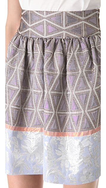 SUNO Cinched Waist Mini Skirt