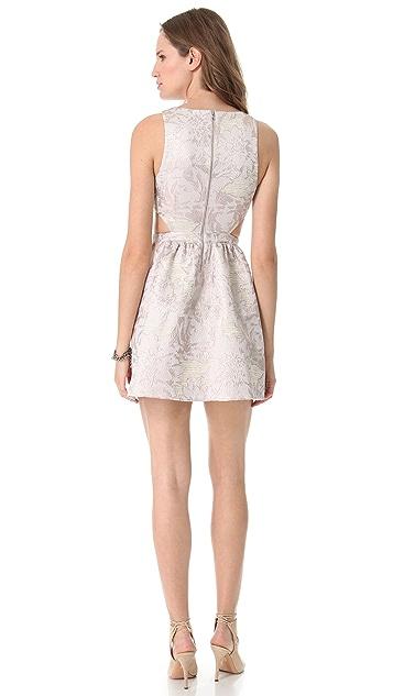 SUNO Side Cutout Jacquard Dress