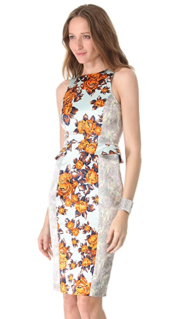 SUNO Fitted Side Peplum Dress