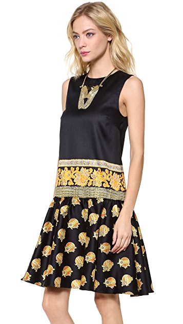 SUNO Ruffle Sleeveless Dress