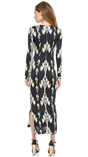 SUNO Fitted Floral Dress