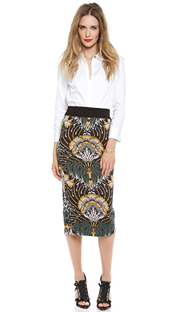 SUNO Knit Pencil Skirt