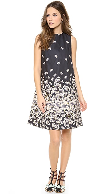 SUNO Seamed Floral Mini Dress