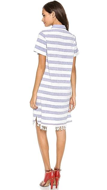 SUNO Embroidered Shirtdress