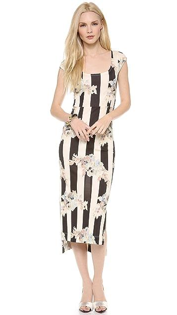 SUNO Staggered Hem Dress