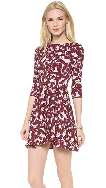SUNO 3/4 Sleeve Flared Dress