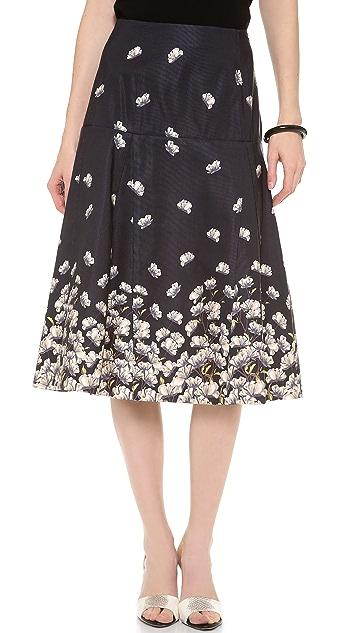 SUNO Godet Midi Skirt