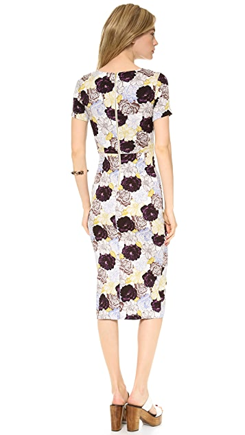 SUNO Cutout Fitted Dress