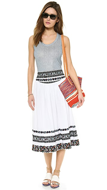 SUNO Hip Yoke Skirt