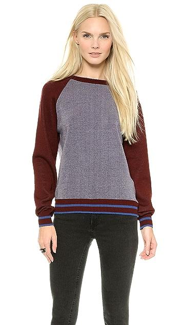 SUNO Raglan Crew Neck Sweater
