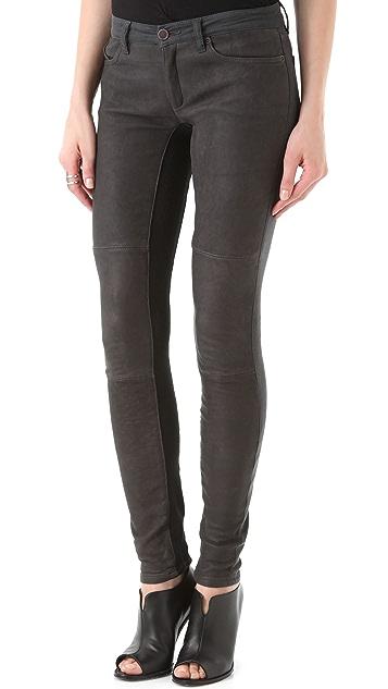 Superfine Flash Friend Leather & Denim Pants