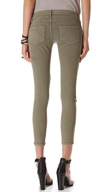 Superfine Seam & Zip Skinny Jeans