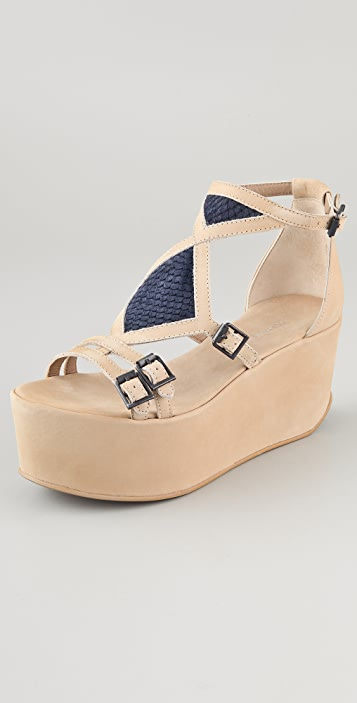 Surface to Air Echo Suede Wedge Sandals