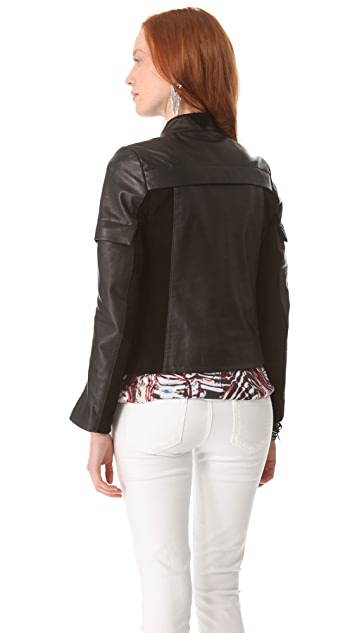 Surface to Air Folded Leather Jacket
