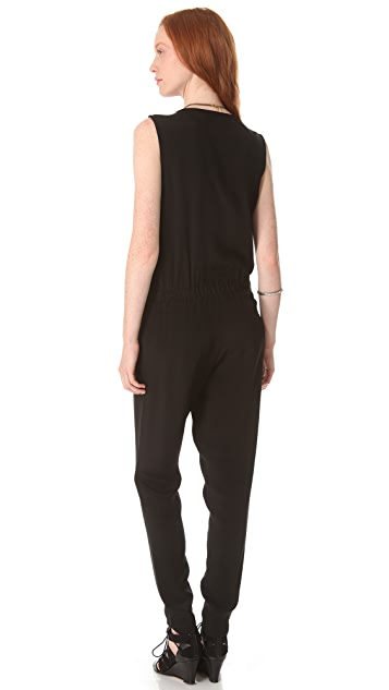 Surface to Air Draped Jumpsuit