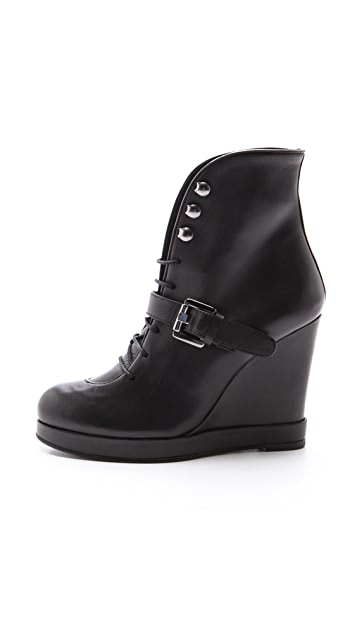 Surface to Air Lace Up Wedge Booties