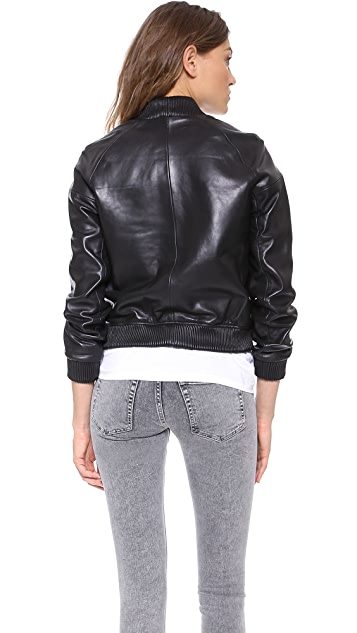 Surface to Air Coast Leather Bomber Jacket