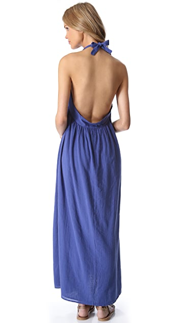 Surf Bazaar Halter Cover Up Maxi Dress