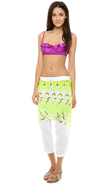 Surf Bazaar Eyelet Long Rise Pants