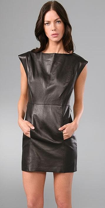 Susana Monaco Blonde Leather Dress