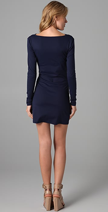 Susana Monaco Deep Sea Cowl Dress
