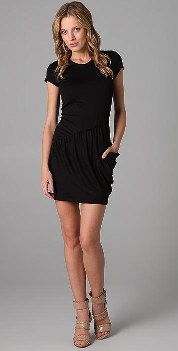 Susana Monaco Crew Drape Dress