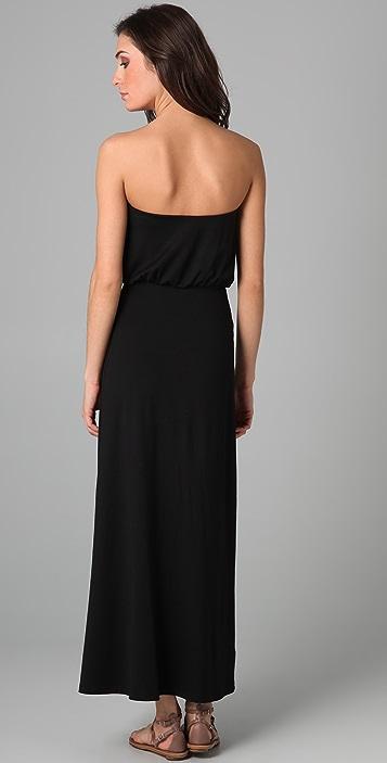 Susana Monaco Strapless Blouson Long Dress