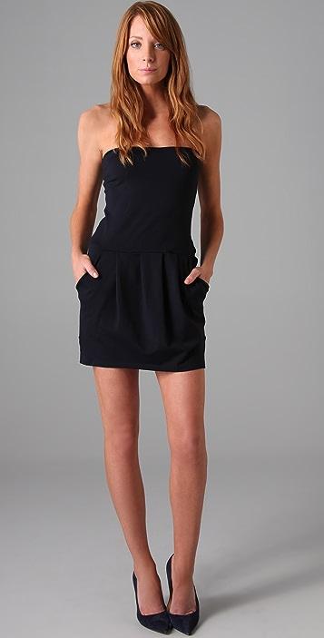 Susana Monaco Pleated Tube Dress