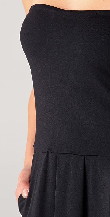 Susana Monaco Tube Pleat Strapless Maxi Dress