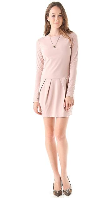 Susana Monaco Diagonal Pleat Dress