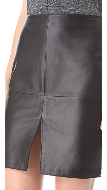 Susana Monaco Leather Skirt