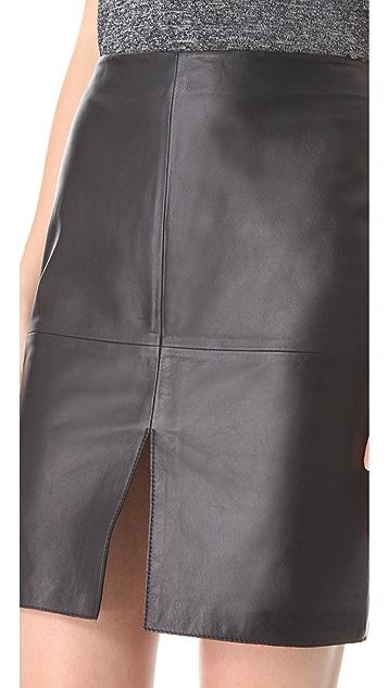 Susana Monaco Leather Skirt