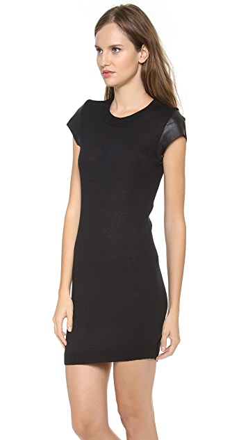 Susana Monaco Leather Sweater Dress