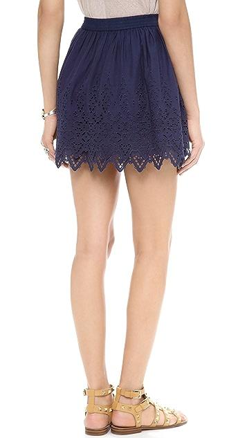 Susana Monaco Shauna Eyelet Skirt