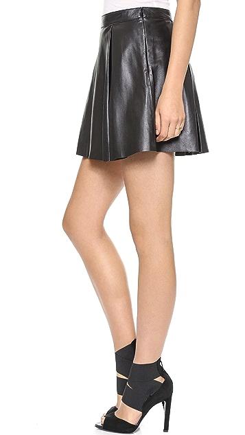 Susana Monaco Jasmine Leather Skirt