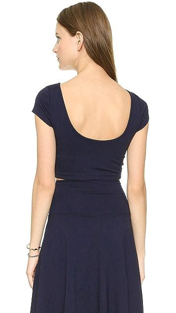 Susana Monaco Short Sleeve Crop Top