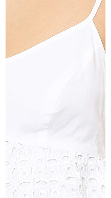 Susana Monaco Eyelet Embroidered Dress