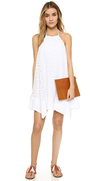 Susana Monaco Embroidered Halter Dress