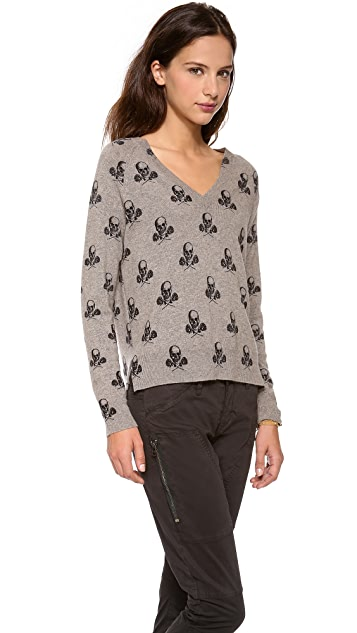 360 SWEATER Rosa V Neck Sweater